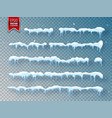 snow ice cap with shadow snowfall and snowflakes vector image vector image