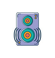 speaker amplifier noise melody sound music line vector image vector image