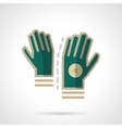Sport accessories flat color icon Gloves vector image