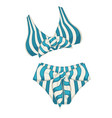 swimming suit for women retro clothes for summer vector image
