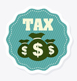 taxes design vector image vector image