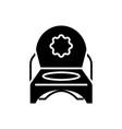 toilet potty icon black sign vector image vector image