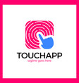 touch app logo vector image