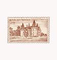 vintage postage stamp for album ancient vector image vector image