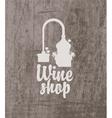 wine shop vector image