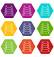 xylophone icons set 9 vector image vector image