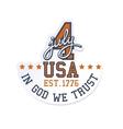 4-th July Badge vector image