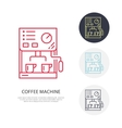 Coffee machine line icon Barista equipment vector image