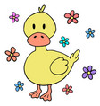 cute baby duck cartoon design element vector image