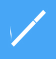 Icon cigarettes on a blue background vector image