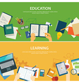education and learning banner flat design template vector image