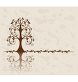 openwork tree on vintage background vector image