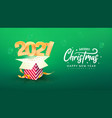 2021 happy new year xmas vector image