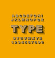 3d bold retro font vintage alphabet 80 s vector image vector image
