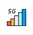 5g internet signal flat color line icon vector image