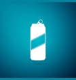 aluminum can icon isolated on blue background vector image vector image