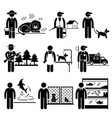 animals jobs occupations careers - zookeeper vector image