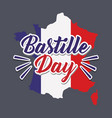 bastille day celebration card with map vector image vector image