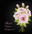 beautiful bouquet of roses vector image vector image