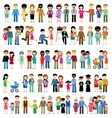 Big set of family life in style flat design vector image vector image