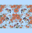 birds on the flowers vector image