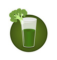 broccoli juice vector image