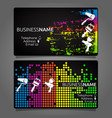 business card for painting template design vector image vector image