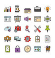 business icons pack vector image vector image