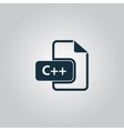 C development file format flat icon vector image vector image
