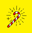 candy cane icon vector image vector image