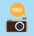 Cartoon camera icon vector image