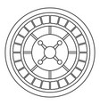 casino roulette icon outline style vector image