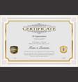 certificate or diploma retro vintage design 01 vector image vector image
