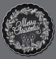 christmas chalking freehand sketch vector image