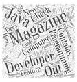 computer programming magazines Word Cloud Concept vector image vector image