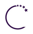 design elements with star sign development logo vector image