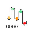different emotions smiles like feedback vector image vector image