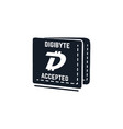 digibyte digital asset accepted concept dgb vector image vector image