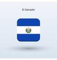 El Salvador flag icon vector image vector image