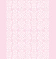 elegant white flowers pattern textured pink vector image vector image