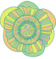 exotic tropical flower mandala - isolated element vector image vector image
