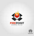 fire point - fire box logo template vector image