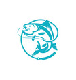 fishing logo template vector image vector image