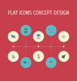 flat icons identity aircraft awareness and other vector image vector image