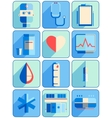 Flat medical icons vector image vector image