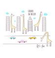 giraffes in city vector image vector image
