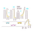 giraffes in the city vector image