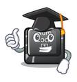 graduation num lock in cartoon shape vector image vector image