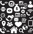 Hand drawn finance Network icon set vector image