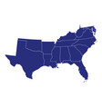 high quality map region united states of vector image vector image